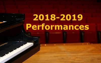 Announcing Our 2018-2019 Season of Performances
