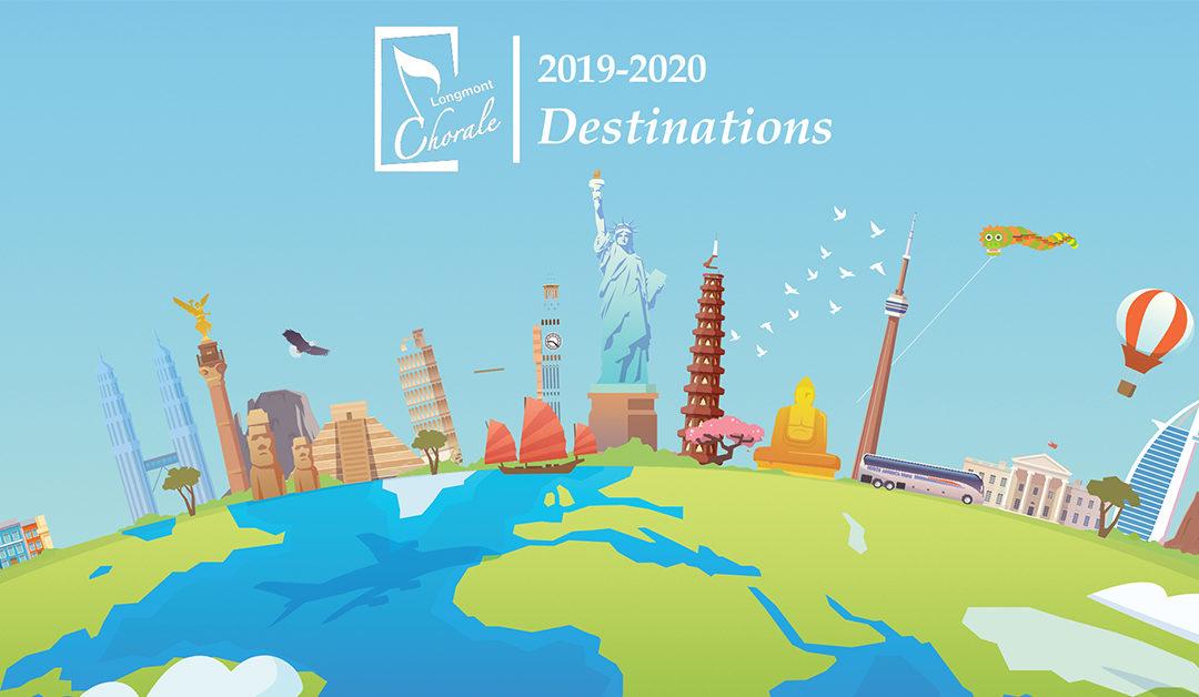 """Longmont Chorale Announces 2019-2020 Season: """"Destinations"""""""
